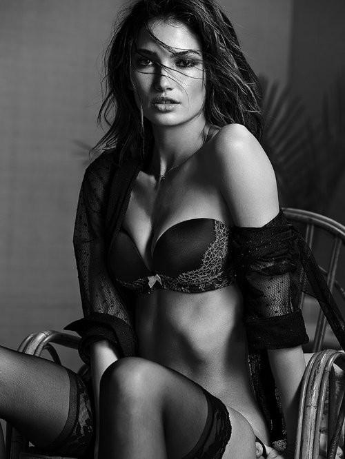 black and white hot girl
